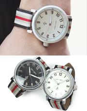 5322 - ストライプバンド時計<br> (2 color) <br>