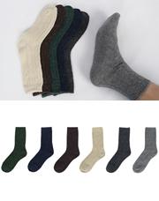 16004 - ふっくらボカシウールの靴下<br> (6 color) <br/>