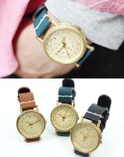 5872 - ヒロゴールドメタル時計<br> (3 color) <br>