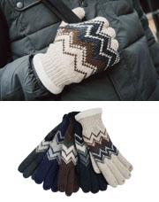 18674 - エスニックニット手袋<br> (5 color) <br>