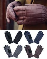 18720 - スクエアキルティングパディング手袋<br> (4 color) <br>