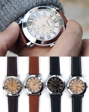 18723 - セントレザー時計<br> (4 color) <br>