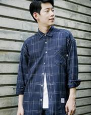 19990 - シークレットチェックオーバーシャツ<br> (1 size) <br>