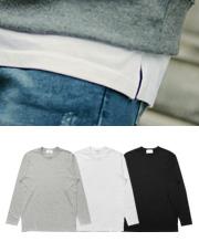 20440 - 実用度100%レイヤード長袖Tシャツ<br> (3 size) <br>
