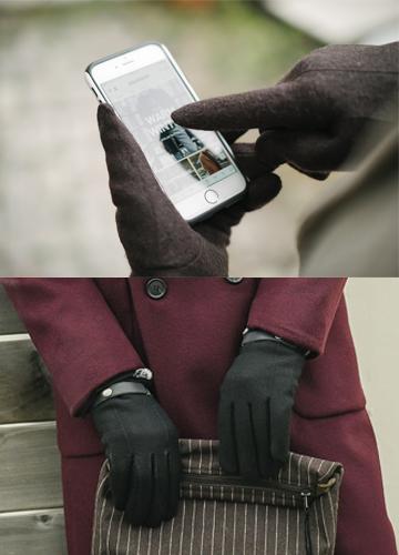 20488 - 毛織ベルクロタッチ手袋<br> (2 color) <br>