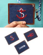 6756 - 刺繍カードネックレス<br> (3 color) <br>