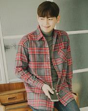 20615 - カイフランネルチェックシャツ<br> (1 size) <br>