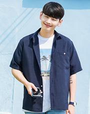 21532 - エプロンリネン半そでシャツ<br(1 size)<br>