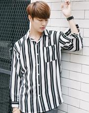 21582 - クーリングストライプシャツ<br> (1 size) <br>