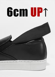 22565 - <b>6cm背高靴</b> <br>ベーシックカーフスキン背高スリップオン<br> <font style=font-size:11px;color:#595959>245mm〜280mm</font> <br>