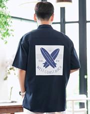 23339 - サーフィンボードオープンカラーシャツ<br> <font style=font-size:11px;color:#595959>Free(95〜110)</font> <br>