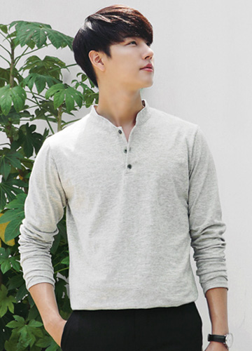 21754 - ドムブルヘンリーネック長袖Tシャツ<br> <font style=font-size:11px;color:#595959>M〜XL(95〜105)</font> <br>
