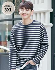 23620 - ストライプコットンブントティーシャツ<br> <font style=font-size:11px;color:#595959>M〜3XL(95〜115)</font> <br>