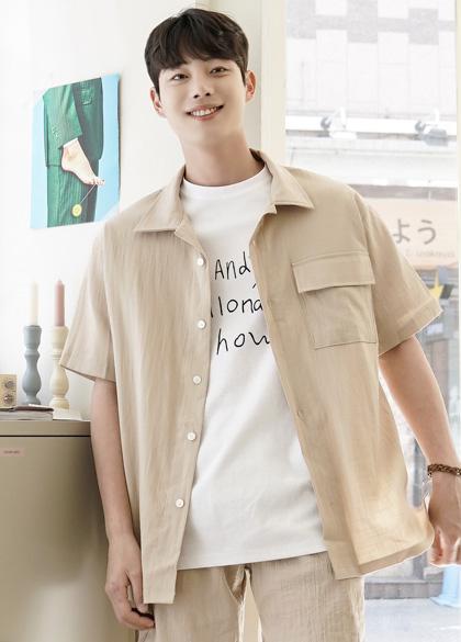 24726 - ラインオープンカラーシャツジャケット<br> <font style=font-size:11px;color:#595959>Fサイズ(95〜105)</font> <br>
